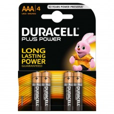 Duracell MN2400B4 Pilas Alcalinas AAA LR03 1.5V Plus Power (4 unidades)