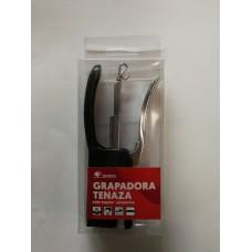 Grapadora metálica de tenaza, usa grapas 26 y 24/6 mm, negro