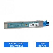 Tóner OKI C3300 C3400 C3500 C3600 43459340 Negro Compatible