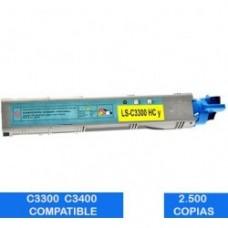Tóner OKI C3300 C3400 C3500 C3600 Amarillo Compatible