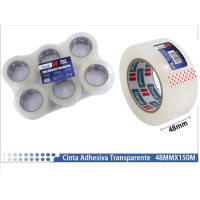 Precinto Cinta Adhesiva Transparente 48MMX150M (6 unidades)