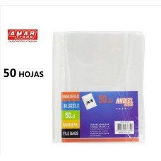 FUNDAS DE FOLIO 11 AGUGEROS A4 50 UNIDADES