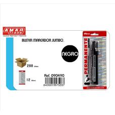 Rotulador Permanente negro grueso 8mm.